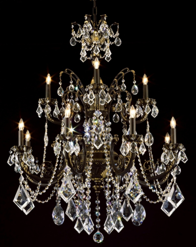 Bronze and crystal chandelier antique brass chandelier asfour category large size chandeliers aloadofball Choice Image