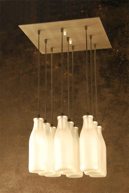 Lampara Botellas Niquel Satinado Lamparas De Diseño Decorative Chandelier España